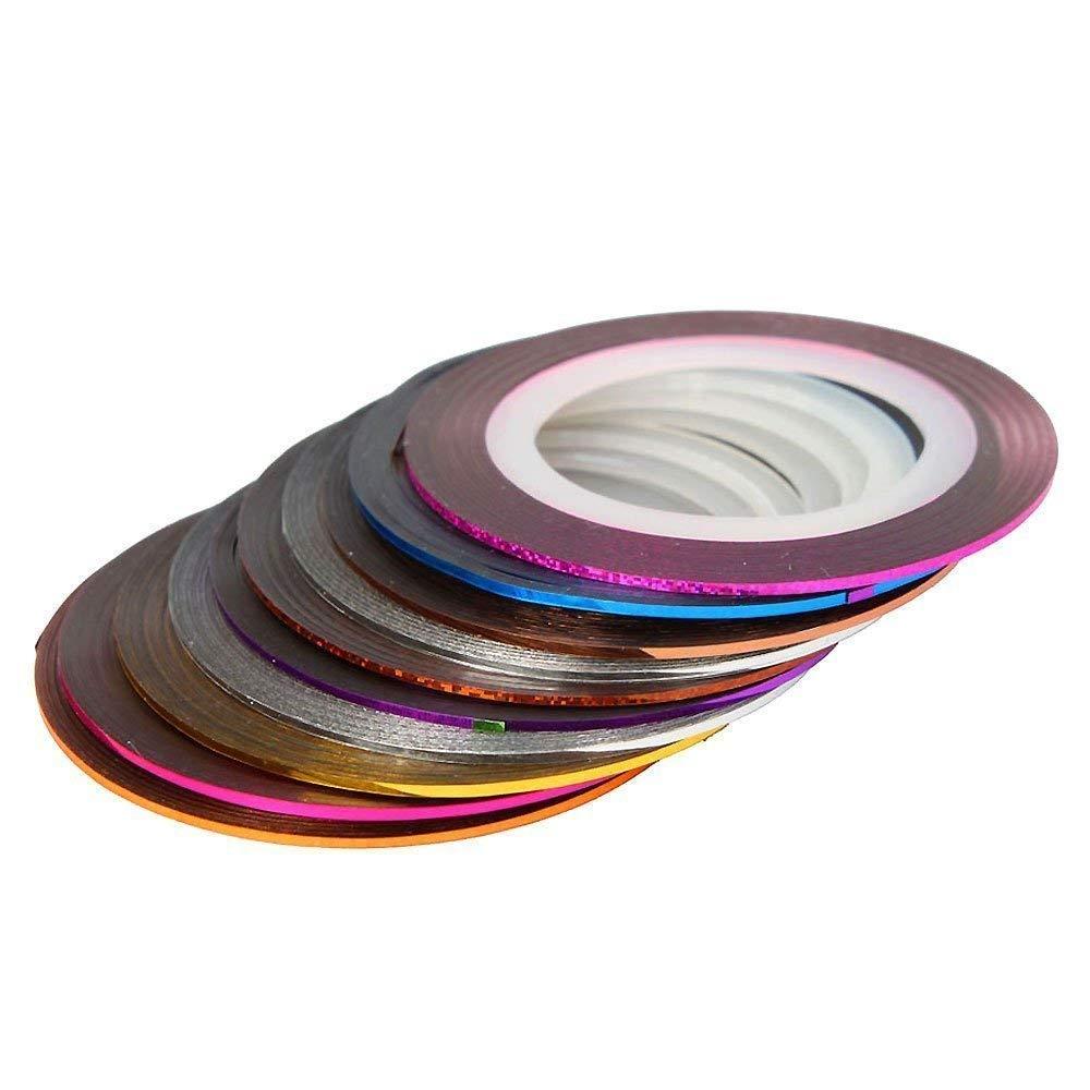 Lyanther 30 Unids Colores Mezclados Rollos Striping Tape Línea Nail Art Tips Decoración Pegatina