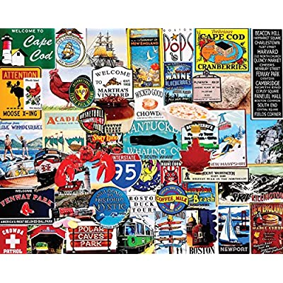 White Mountain Puzzles I Love New England - 1000 Piece Jigsaw Puzzle