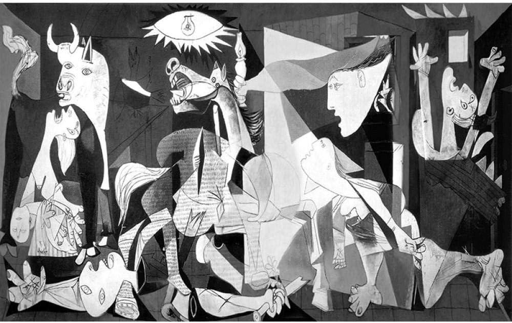 Pintura Diamante 5D Pablo Picasso Pintura Famosa Guernica Bordado De Diamantes Patrón De Punto De Cruz Decoración Para El Hogar,30X40cm
