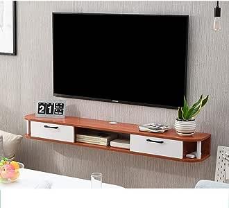 ZPWSNH Mueble de Pared TV Fondo de Pared Estante de Almacenamiento cajón Abierto con Estante Flotante DVD Caja de TV por satélite Caja de Cable Mueble para TV de Pared (Color :
