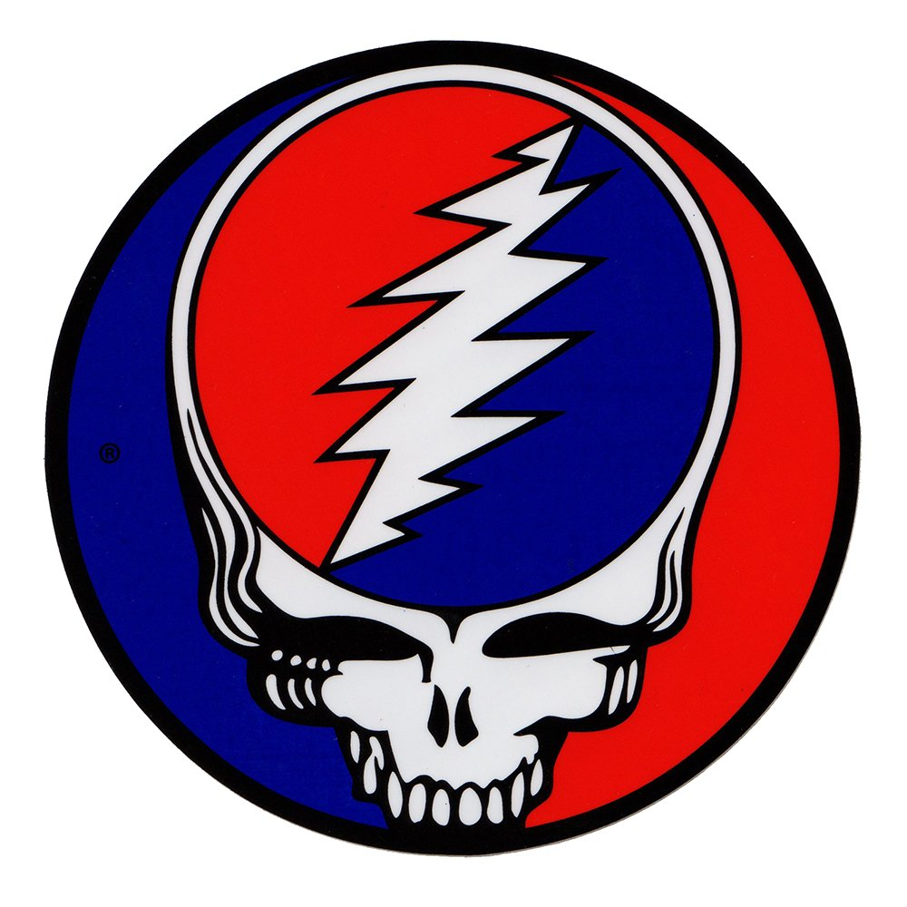 Grateful Dead rock band Vynil Car Sticker Decal - 4' C&D Visionary 02-12L