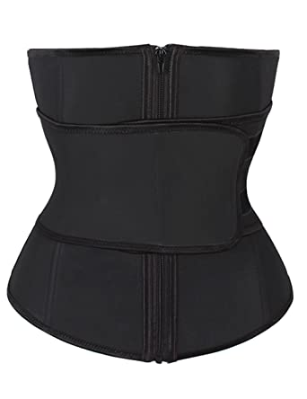 7525a57d324 FeelinGirl Women s Latex Sport Girdle Waist Training Corset Waist Shaper 4XL