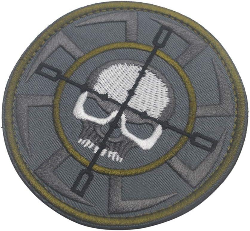 KingNew insignia táctica de calavera, parche de velcro militar para mochila y sombrero: Amazon.es: Hogar