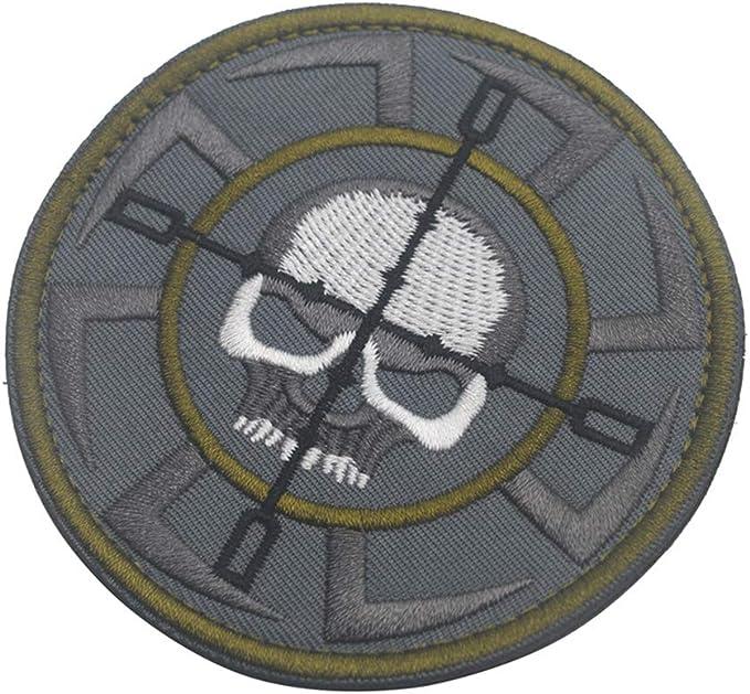 KingNew insignia táctica de calavera, parche de velcro militar ...