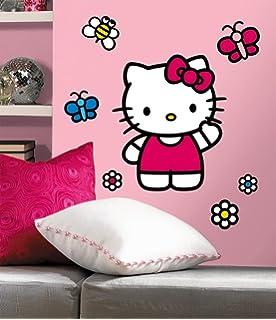 Hello Kitty The World Of Hello Kitty Peel U0026 Stick Giant Wall Decals 18 X