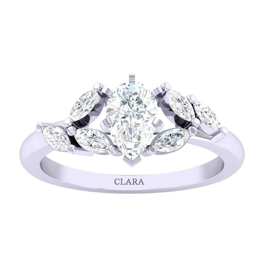 CLARA Certified Coral 5.5cts or 6.25ratti Original Stone Sterling Silver Astrological Ring for Men and Women Moonga