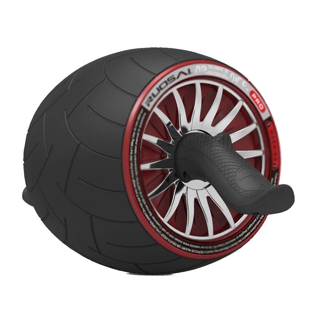 Abdominal-Rad Bauchmuskel-Rad Abdominal-Roller Bauchmuskel-Trainingsgerät (Farbe   schwarz, Größe   39  23cm)