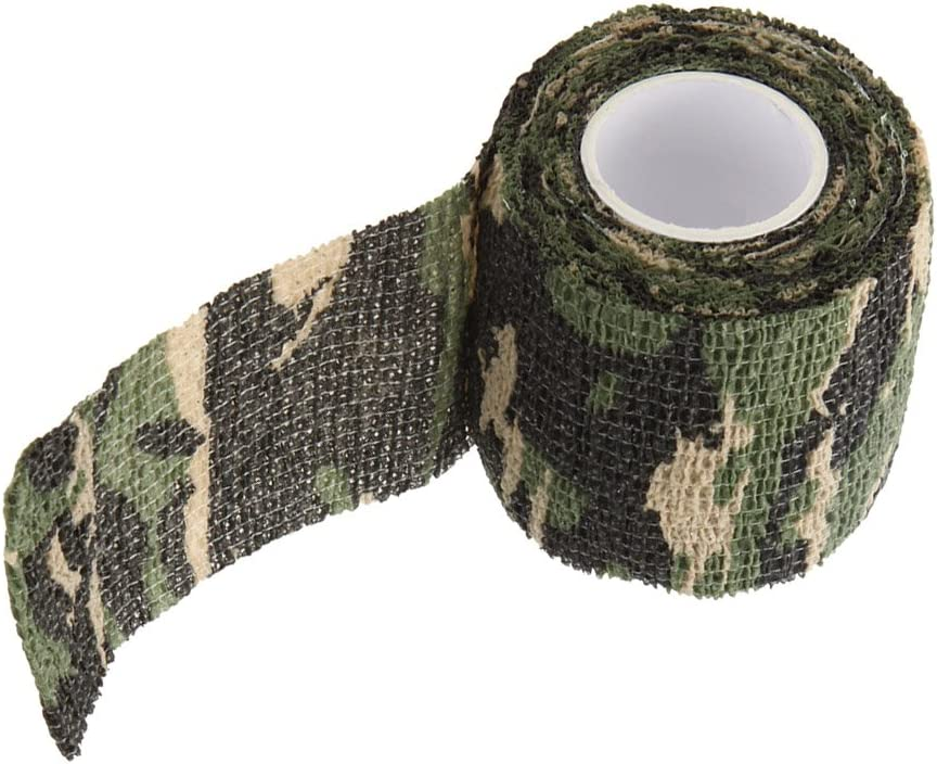 Useful Camouflage Tape Wrap Stealth Camo Tape Stretch Bandage Q
