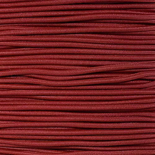 """PARACORD PLANET Elastic Bungee Nylon Shock Cord 2.5mm 1/32″, 1/16″, 3/16″, 5/16″, 1/8"""", 3/8″, 5/8″, 1/4″, 1/2 inch Crafting Stretch String 10 25 50 & 100 Foot Lengths Made in USA"""