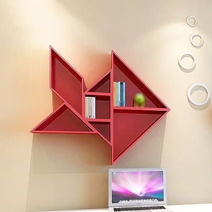 Book Shelf European Partition Home Living Room Wall Mount Bedroom Creative Plaid Frame Life Bookshelf