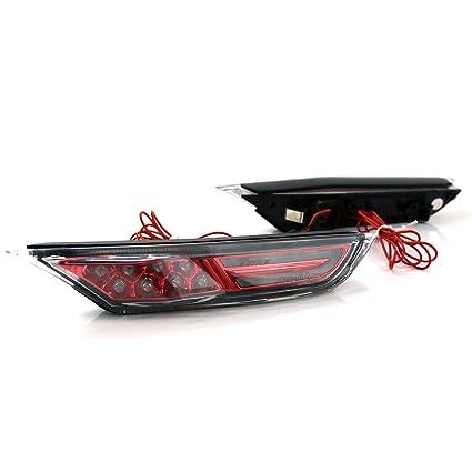 For Nissan GT-R R35 Inner Red LED Side Marker Light  LED Exterior Fender Lights