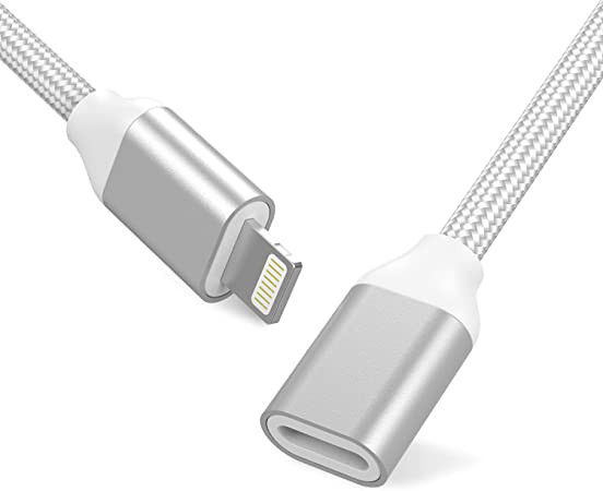 APS CA SHIPPING 8 Pin Lightning Extension Cable for iPhone 6S 7 iPad iPod White