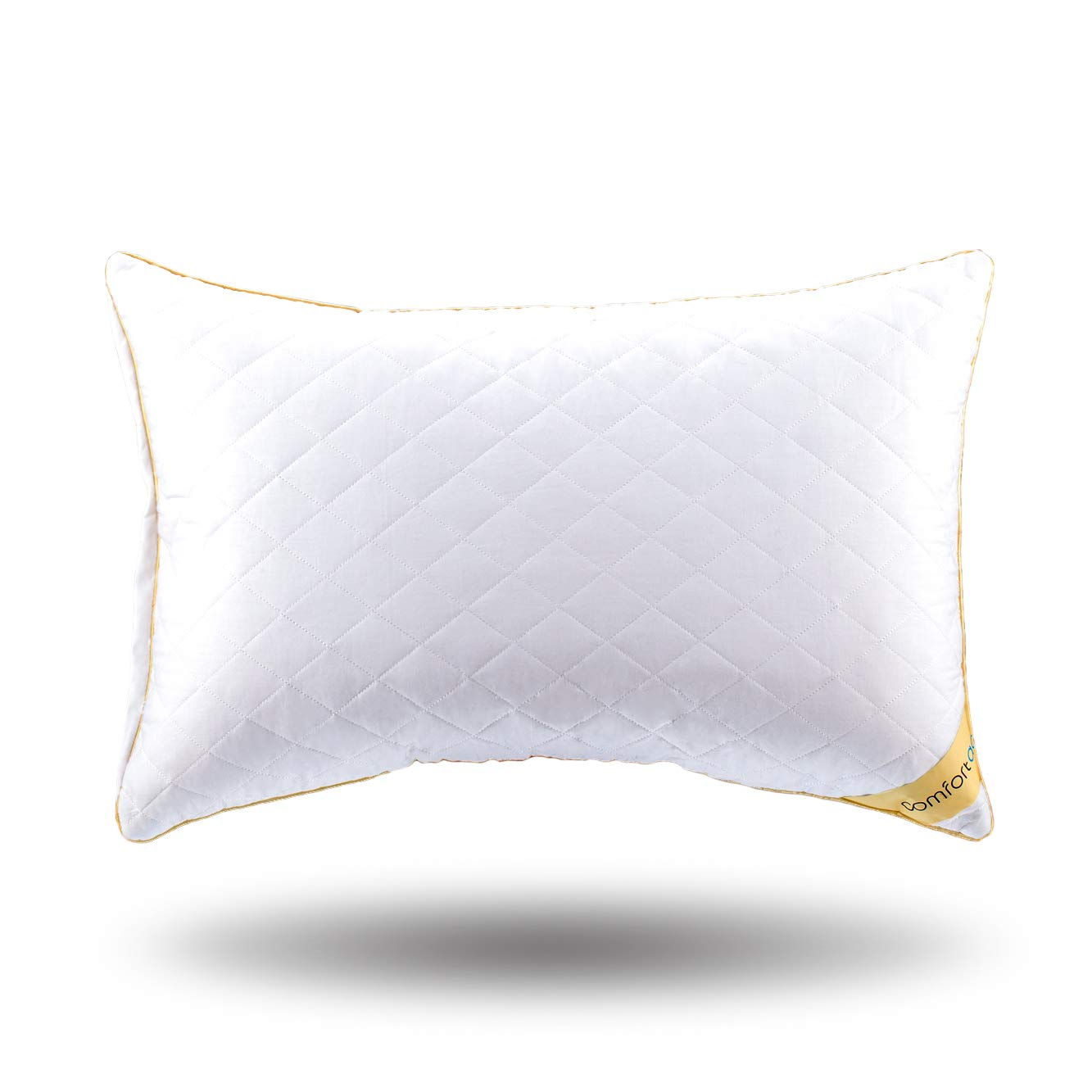 Comfortac Shredded Memory Foam Pillow, Premium Memory Foam Pillow w/ Adjustable Hypoallergenic Gel Infused Memory Foam Fill and Removable Vented 100% Cotton Case - One Pack