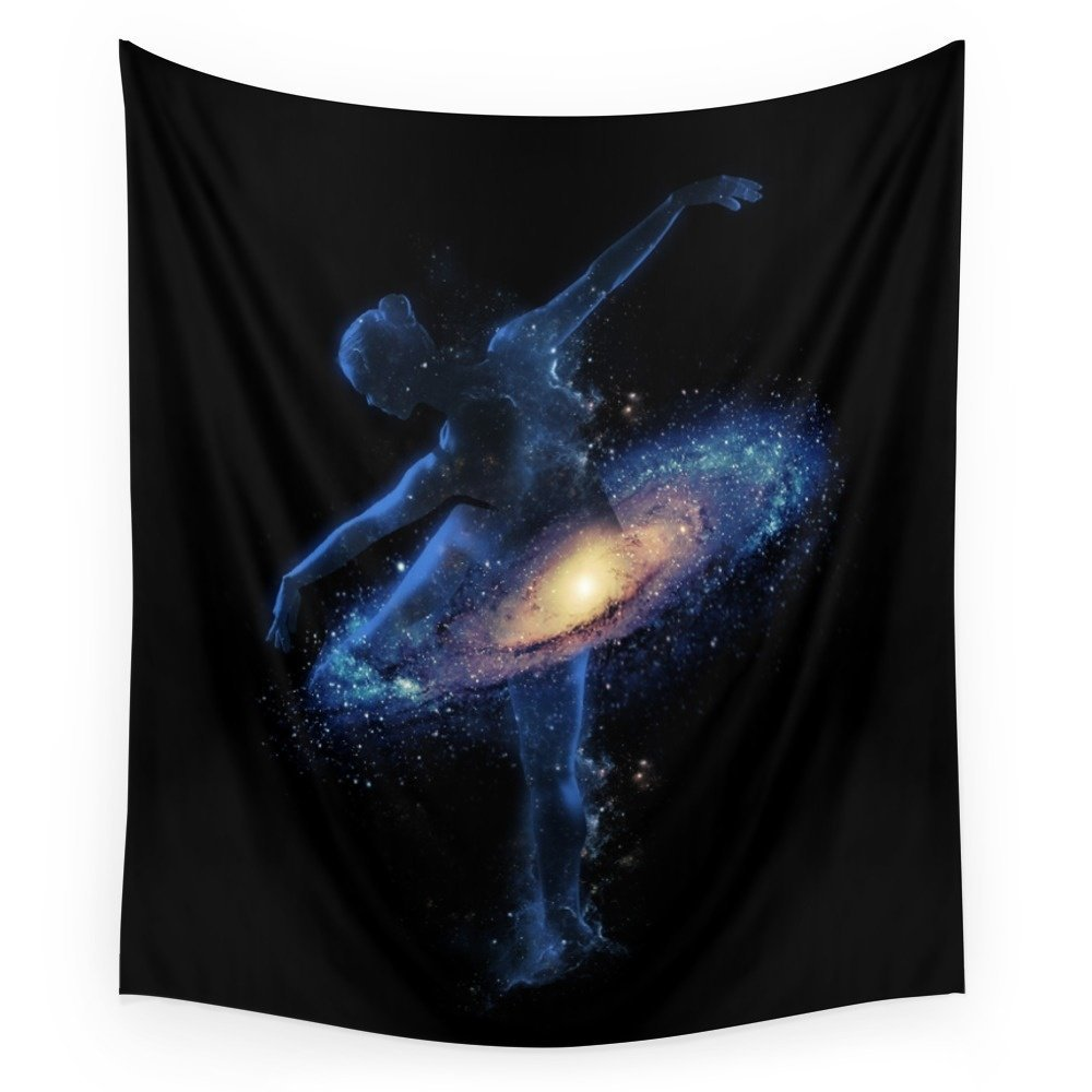 Society6 Cosmic Dance Wall Tapestry Large: 88'' x 104''