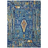 Modway R-1121A-810 Yaretzi Distressed Southwestern Aztec 8x10 Area Rug, Twin, Multicolored