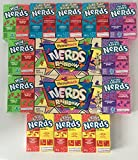 Included in bundle is: (3) Surf & Turf Nerds Raspberry/Tropical Punch 1.65oz Each, (3) For The Love Of Nerds Gotta-Have Grape/Seriously Strawberry 1.65oz Each, (3) Double Dipped Watermelon Apple/Cherry Lemonade 47Grams Each, (3) Wild Abou...