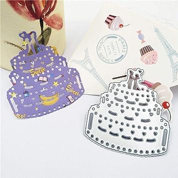 Ruby569y Moldes cortadores de galletas para hornear, tartas de boda, troqueles de corte de