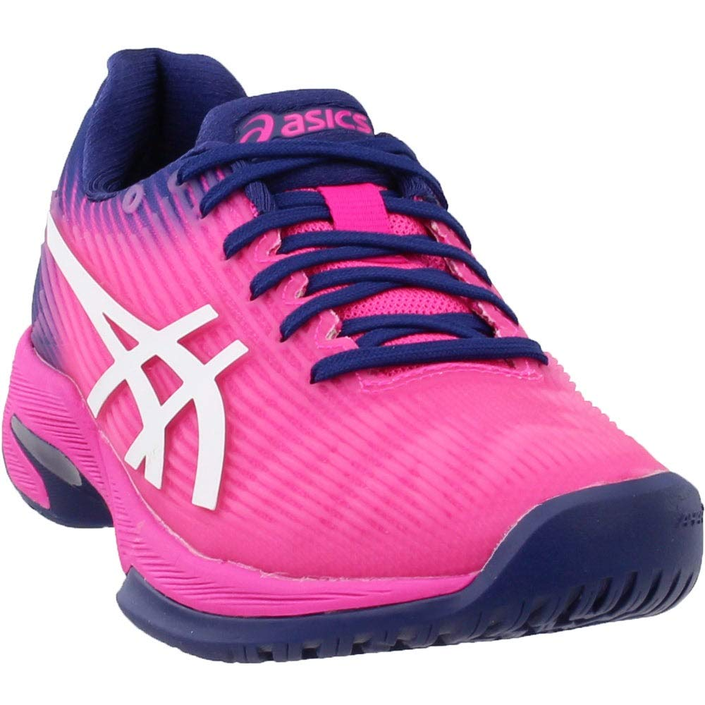 ASICS Womens Solution Speed FF Tennis Shoe, Pink Glo/White, Size 5