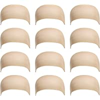 12 Pack Dreamlover Nude Stocking Wig Caps, Skin Tone Color Stretchy Nylon Close End Wig Caps, Each Paper Board Contains 2 Wig Caps, Suitable for White Com (Nude)