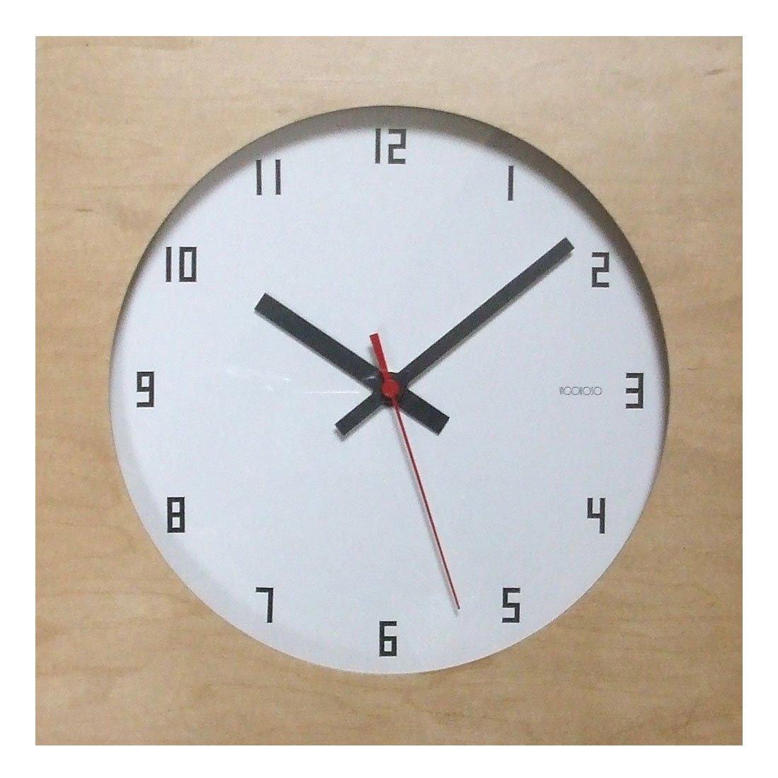 フォーカススリー メープルの時計 電波 ナチュラル V-085 B00VOV1UYO