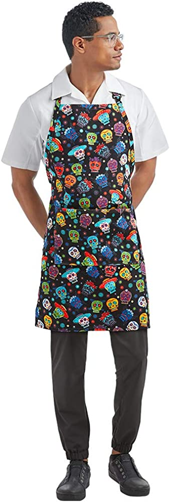 Chef Unisex Printed Adjustable Bib Apron - Perfect Restaurants and Gifts