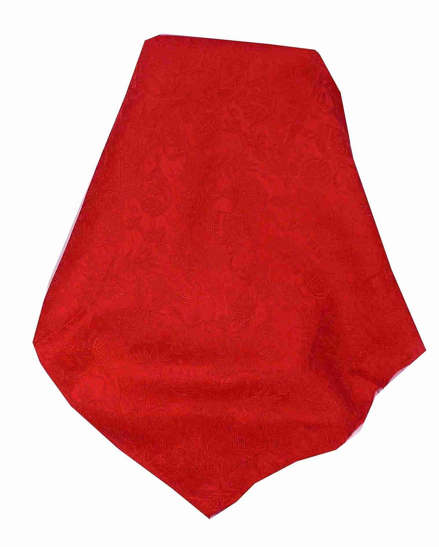 Vietnamese Silk Weave Scarf Reversible Hoi-An Ha-Long Pattern Scarlet by Pashmina & Silk