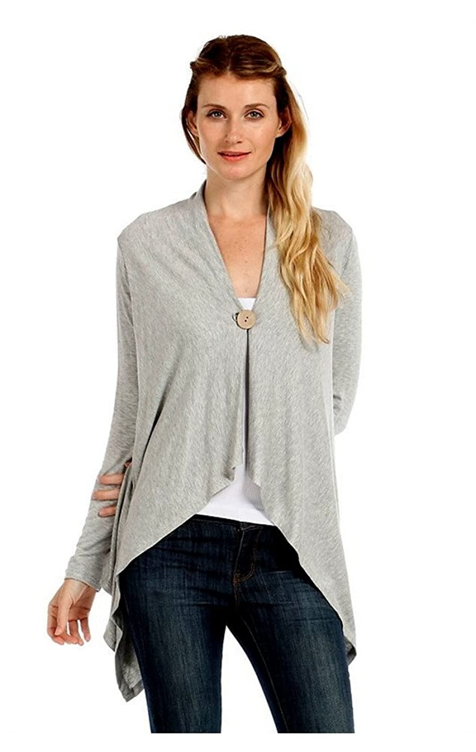 Asymetrical One Button Cardigan