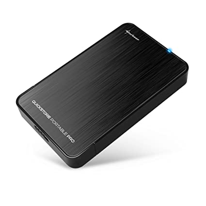 Sharkoon QuickStore Portable Pro - Carcasa Externa de Disco Duro, USB 3.0, Negro