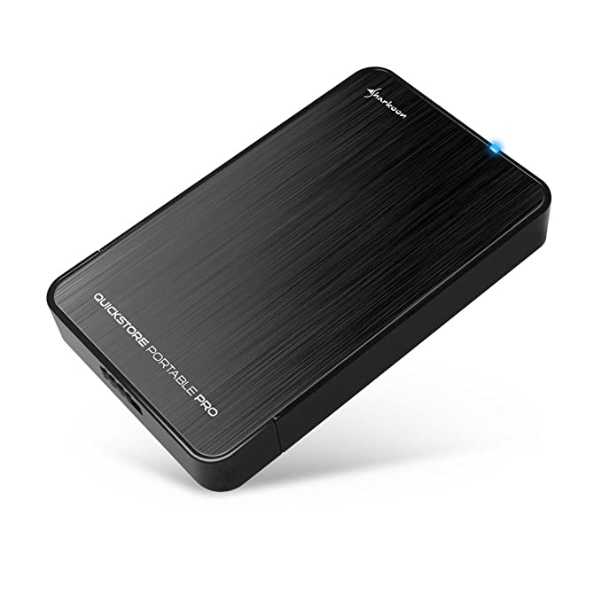 Sharkoon Rapid-Case 2.5 USB 3.1 Type C - Carcasa Externa de Disco Duro, Negro
