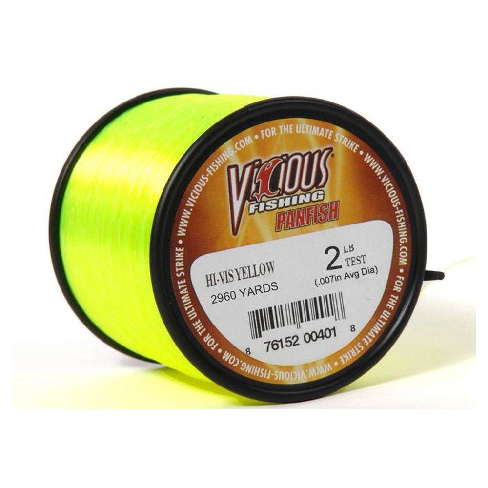 Vicious Fishing PYLQ2 Panfish Line Hi-Vis Yellow 2 lb. Test 3920 Yards