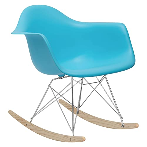 Poly and Bark Rocker Lounge Chair, Aqua