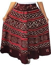 Maple Clothing Women's Batik Printed Indian Cotton Long Skirt