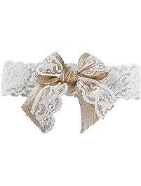 Ivy Lane Design Country Romance Bridal Garter, Medium, White