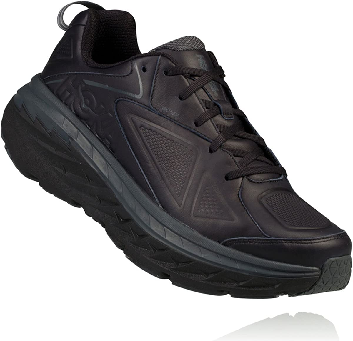 Hoka One W Bondi LTR Wide Black Running Shoes