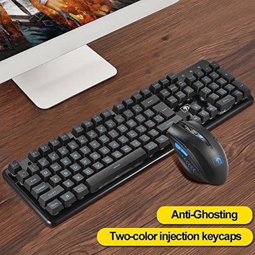 7f1d24386ab durable modeling LexonElec Technology Keyboard Mouse Combo Gamer 2.4GHz  Wireless 104 Keys No Backlit Pro