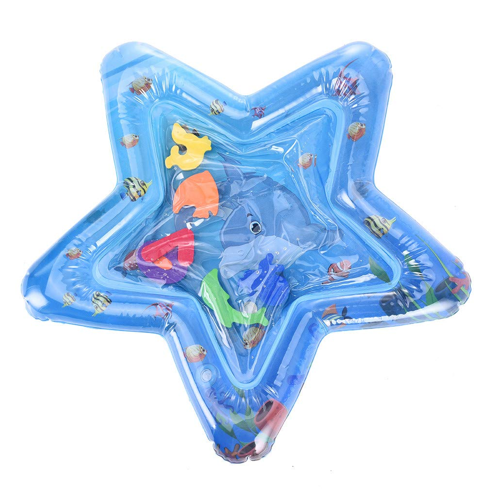 CreazyBee Children and Baby Inflatable Baby Water Pad Fun Activity Play Center Toy (Blue) by CreazyBee