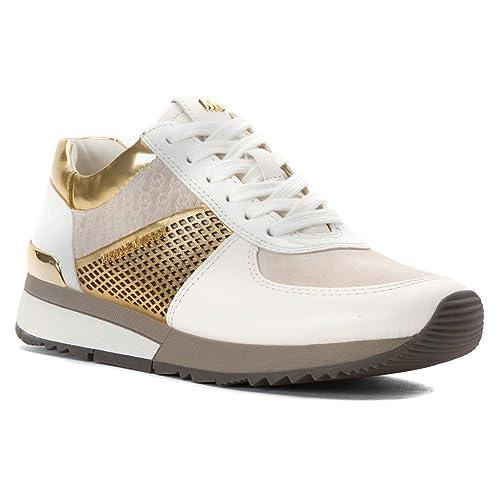 e432aa90ba755 Michael Kors Allie Entrenadores Negro, Color Blanco, Talla 36 EU   Amazon.es  Zapatos y complementos