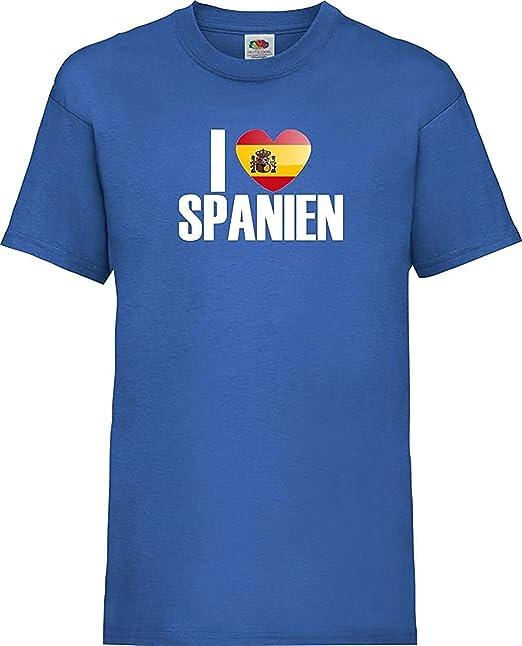 Shirtinstyle camiseta de niño WM Camiseta de país I love España ...