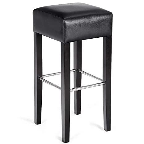 Phenomenal Costway Bar Stool Modern Contemporary Bar Height Backless Padded Seat Pub Bistro Kitchen Dining Side Stools With Solid Wood Legs Black1 Pc Gmtry Best Dining Table And Chair Ideas Images Gmtryco