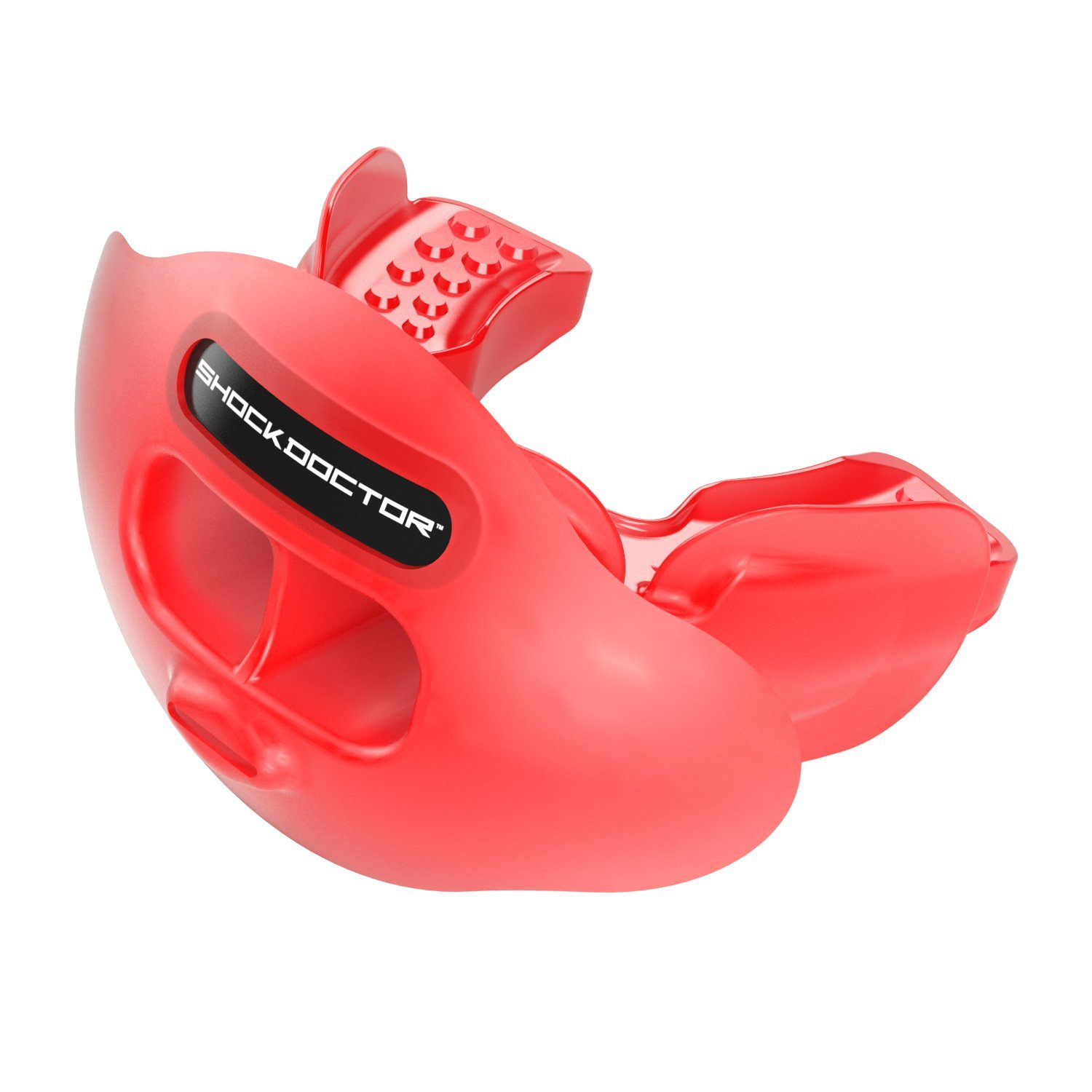 Shock Doctor Max Airflow Lip Guard / Mouth Guard. Football Mouthguard 3300. For Kids / Youth and Adults. Breathable Wide Opening Mouthpiece. Helmet Strap Included by Shock Doctor