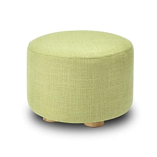 Taburete tapizado Reposapiés tapizado de Madera 4 Patas de ...