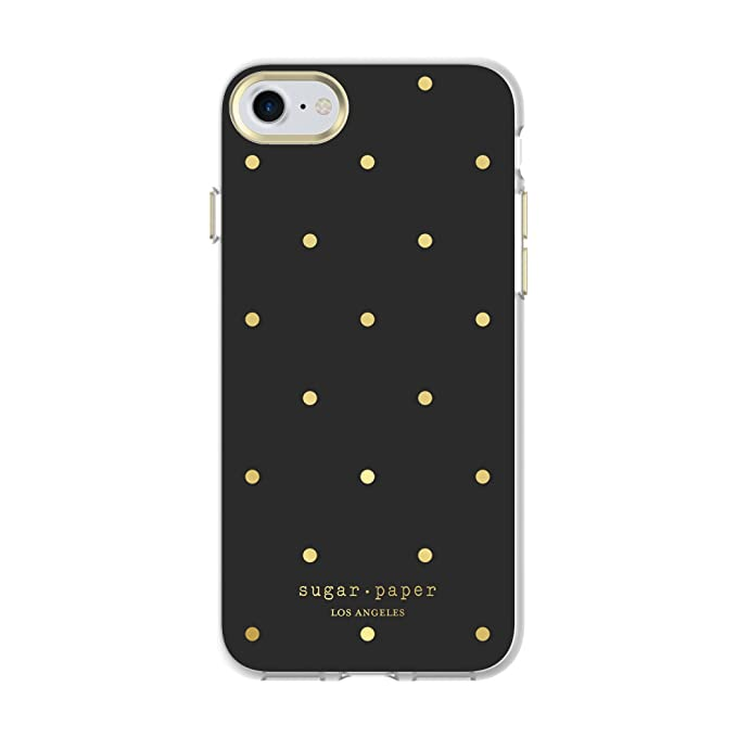 buy online 07b8d 9b3a8 Sugar Paper iPhone 7 Case, Printed Case [Shock Absorbing] Designer Cover  fits Apple iPhone 7 - Small Dot Clear/Black/Gold