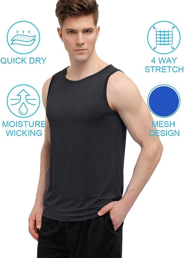 Men Sport Vest Sleeveless Muscle Fitness Gym Loose Bodybuilding Tops Tee  M-4XCP