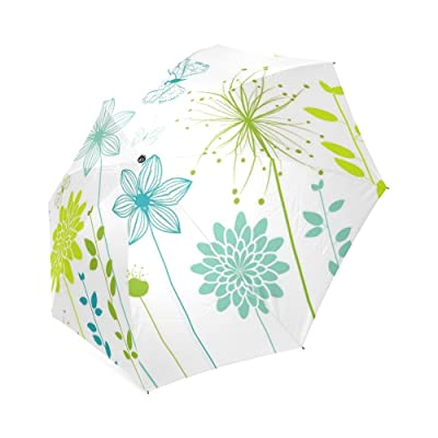 Customized Unique Spring Flowers Folding Rain Umbrella/Parasol/Sun Umbrella