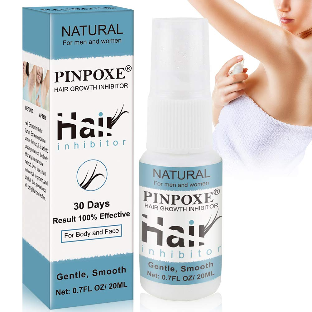 Hair Inhibitor, Hair Removal Spray, Hair Inhibiting and Reducing to Stop Hair Growth, For Arm/Underarm/Legs/Mild Ingredient Non-Irritating Hair Removal Spray Depilatories Product