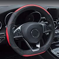 D-Shaped Steering Wheel Cover Flat Bottom (Red)