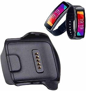 AWINNER Charger Cradle Charging Dock Desktop for Samsung Gear Fit R350 Smart Watch Black (Samsung Galaxy Gear R350)