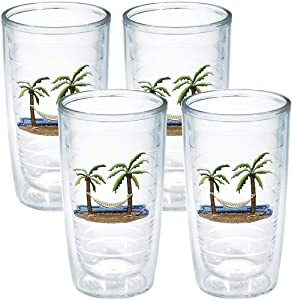 Tervis Tumbler Palm and Hammock 16-Ounce Double Wall Insulated Tumbler, Set of 4 - 1035978