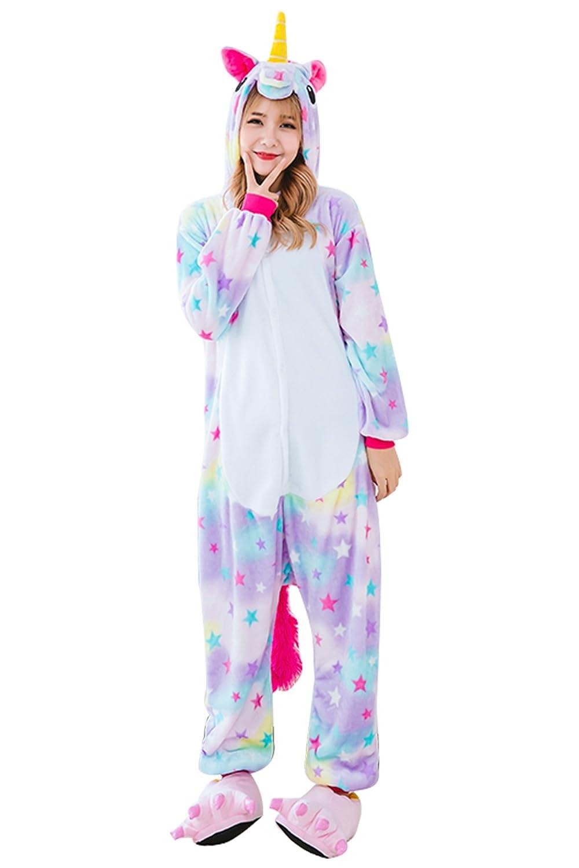 833936cc65 Amazon.com  Kids Unicorn Onesie Pajamas Costume - Animal Cosplay Onesies  Sleepwear for Child  Clothing