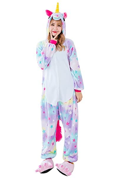 6607d3f69226 Amazon.com  Kids Unicorn Onesie Pajamas Costume - Animal Cosplay Onesies  Sleepwear for Child  Clothing